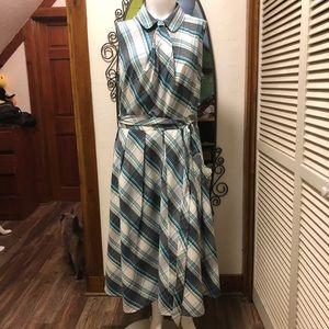 New eShatki Plaid Sleeveless Dress